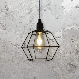 Geometric Cage Pendant Light
