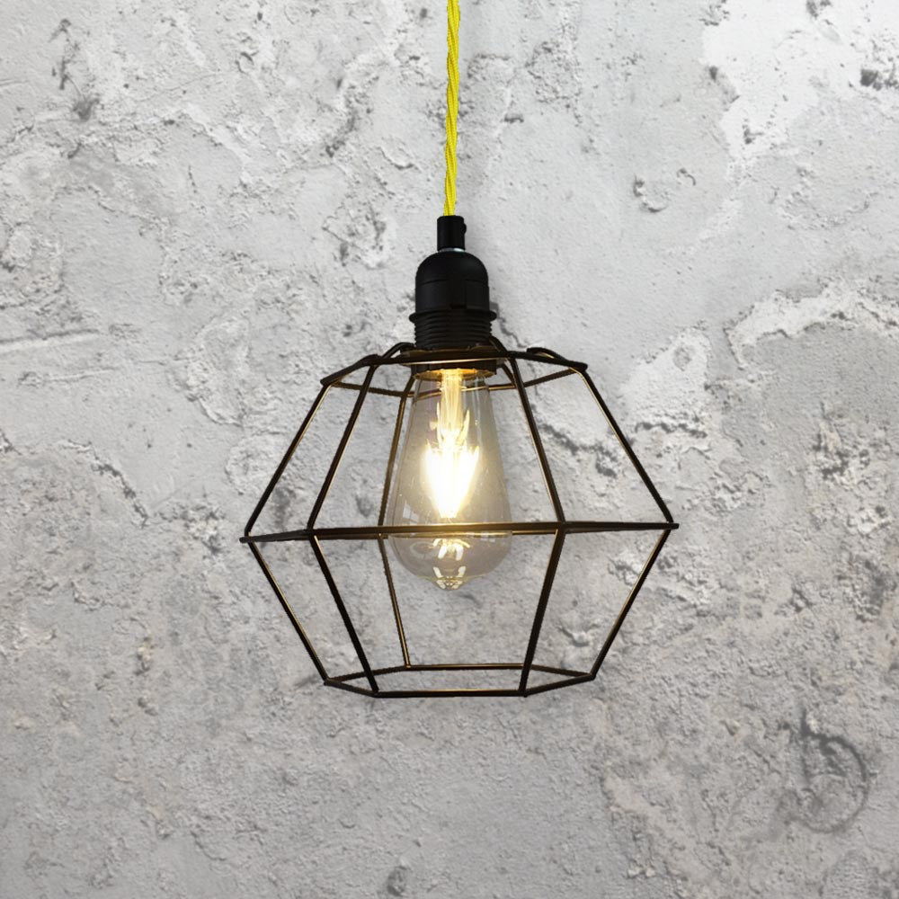 Geometric Cage Pendant Light CLB-00520 | E2 Contract Lighting | UK
