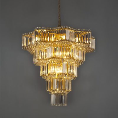 Geometric Crystal Chandelier