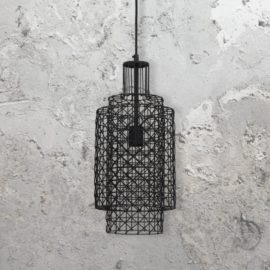 Geometric Cylinder Pendant Light