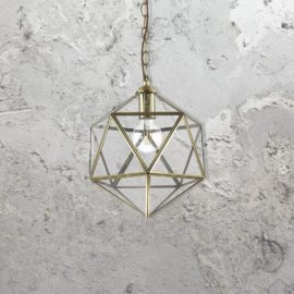 Geometric Glass Pendant Light