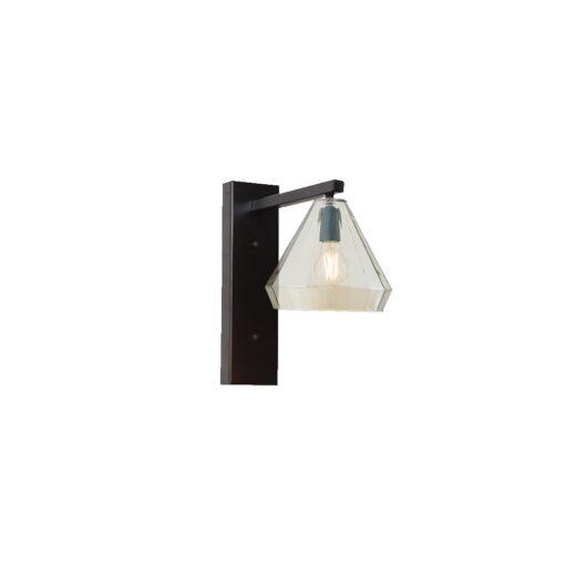 Geometric Glass Shade Wall Light
