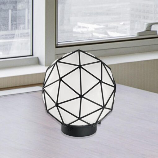Geometric Glass Table Lamp