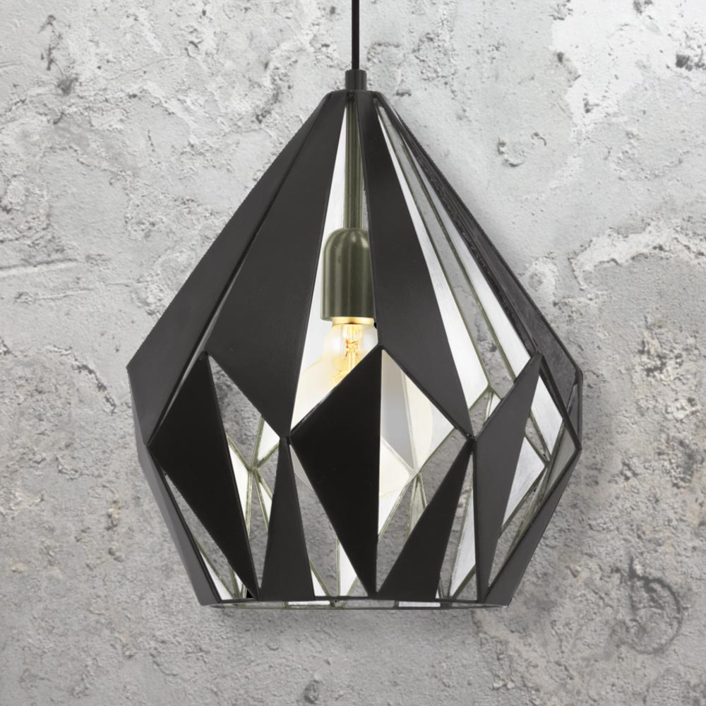 the product tribecca geometric gold large designer interior pendant