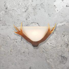 Glass Antler Wall Light