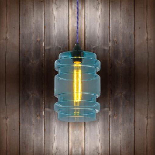 Glass Cylinder Pendant Light