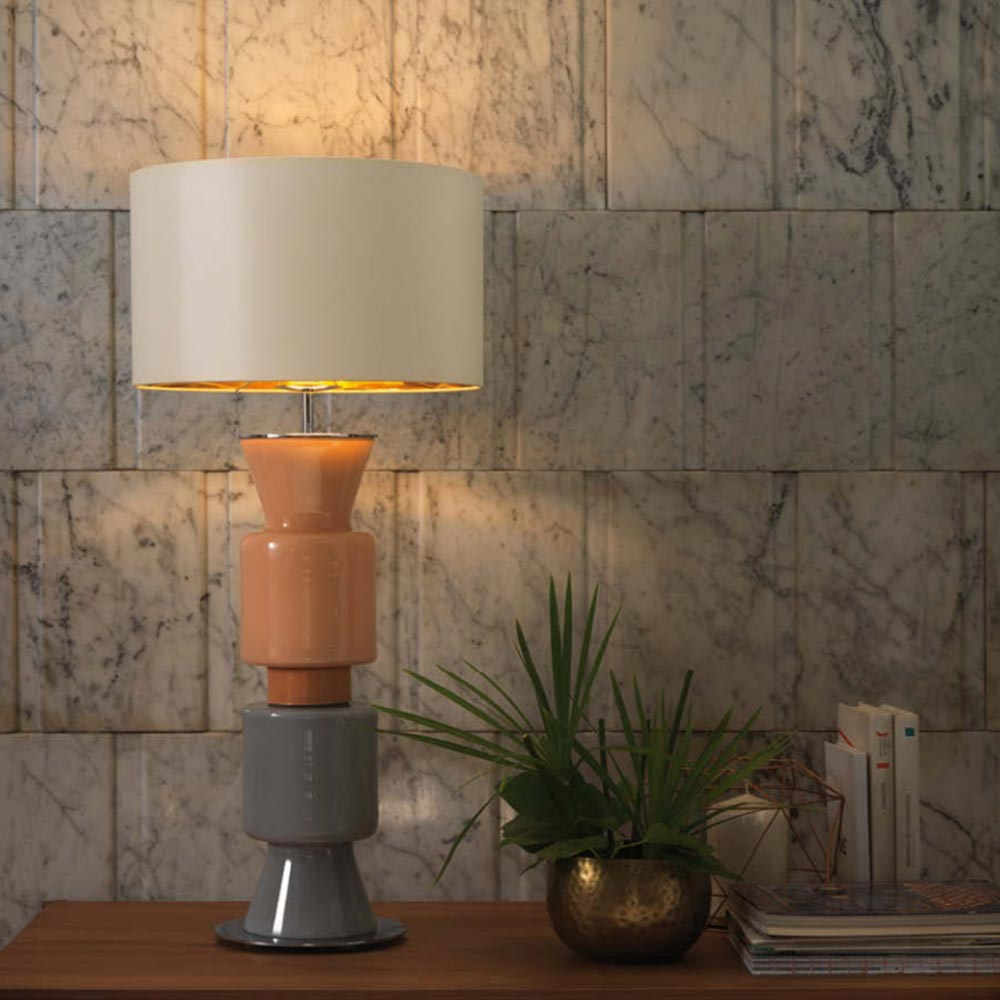 Glass cylinder table lamp base cl 33978 e2 contract lighting uk glass cylinder table lamp base mozeypictures Choice Image