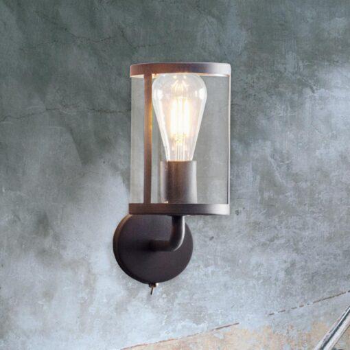 Glass Cylinder Wall Light