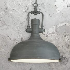 Grey Factory Pendant Light,Glass Diffuser Vintage Pendant Light