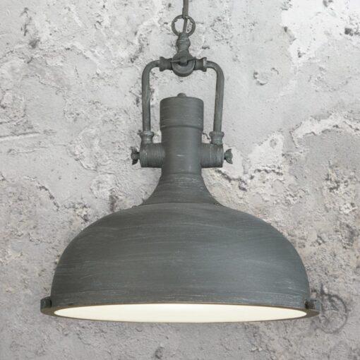 Grey Factory Pendant Light,Glass Diffuser Vintage Pendant Light