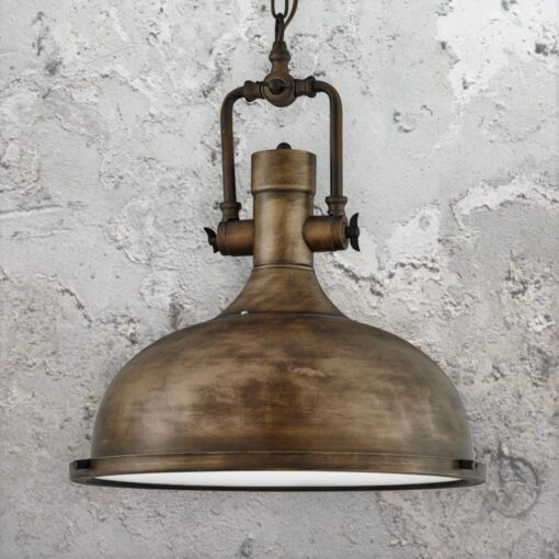 Black and Gold Factory Pendant Light,Glass Diffuser Vintage Pendant Light
