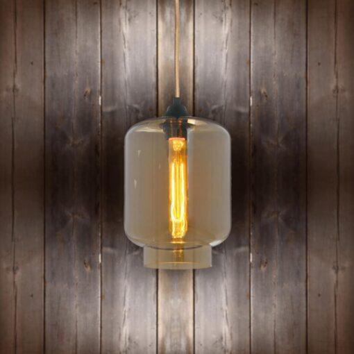 Glass Jug Pendant Light - Copper Round