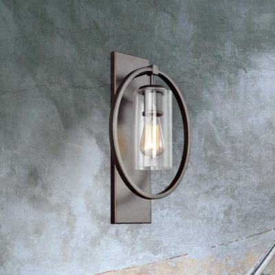 Glass Shade Ring Wall Light