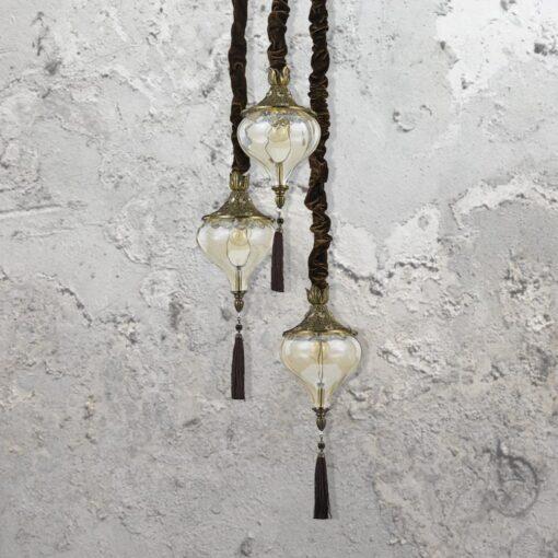 Glass Tassel Pendant Light