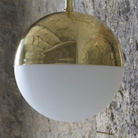 Polished Brass Minimalist Wall Light