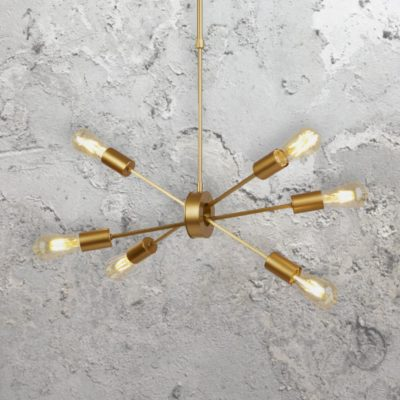 Gold 6 Light Pendant