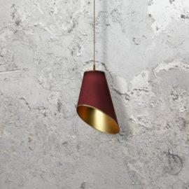 Gold Fabric Shade Pendant Light