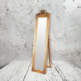 traditional gold floor mirror