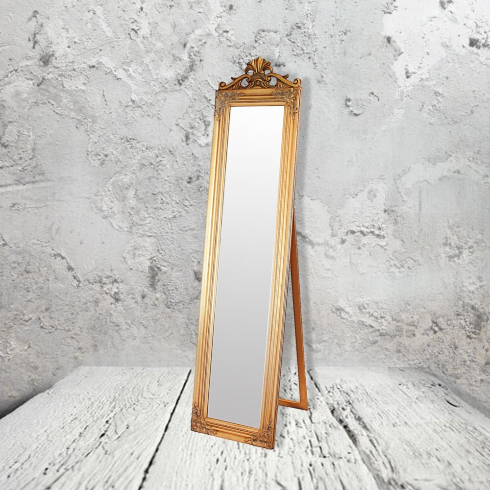 Gold floor mirror cl 21618 floor mirrors e2 contract for Gold standing mirror