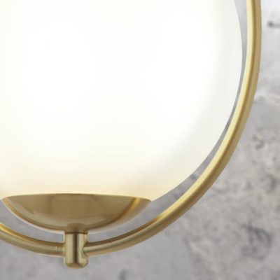 Gold Opal Glass Globe Pendant Light