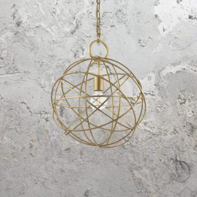 Gold Orb Pendant Light