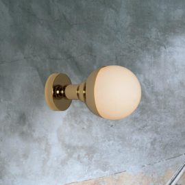 Gold Small Opal Globe Wall Light
