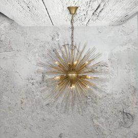 Gold Starburst Pendant Light