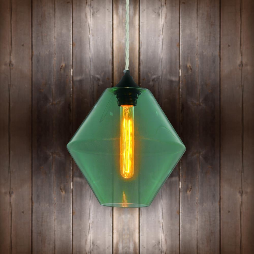 Green Glass Pendant Light E2 Contract Lighting Bespoke Products Uk