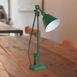 Green Industrial Desk Lamp, large adjustable industrial table lamp