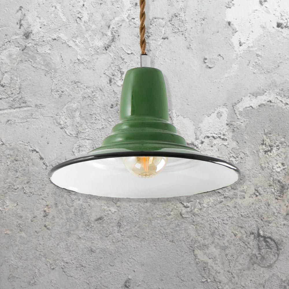 Green Industrial Pendant Light CL-32676