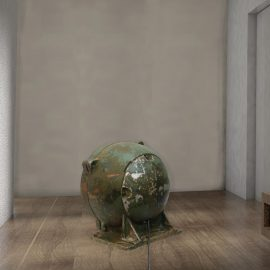 Green Reclaimed Tank Floor Lamp