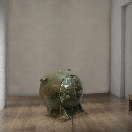 Green Reclaimed Tank Floor Lamp