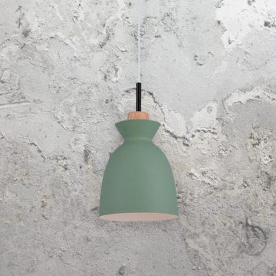 Green Scandinavian Pendant Light
