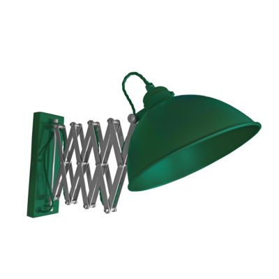 Green Scissor Arm Wall Light