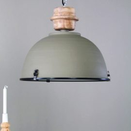 Grey And Wood Pendant Light