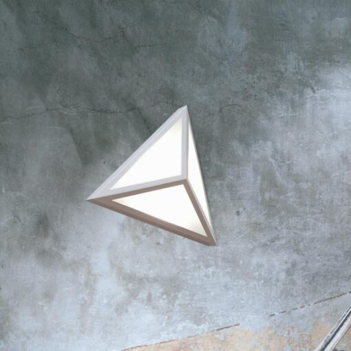 Grey LED Triangle Wall Light,Architectural Triangular Wall Mounted Fitting