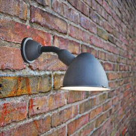Grey Modern Outdoor Wall Light