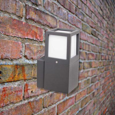 Grey Outdoor Wall Light