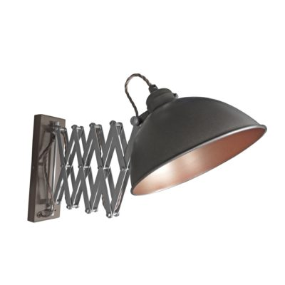 Gunmetal Scissor Arm Wall Light Bronze Inner