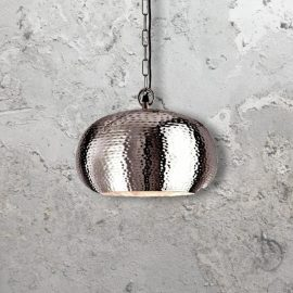 Hammered Metal Pendant Light