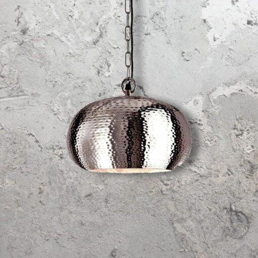 Hammered Metal Pendant Light