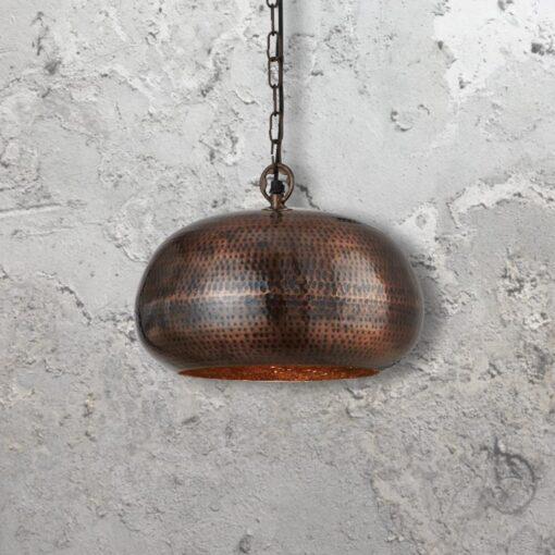 Hammered Metal Pendant