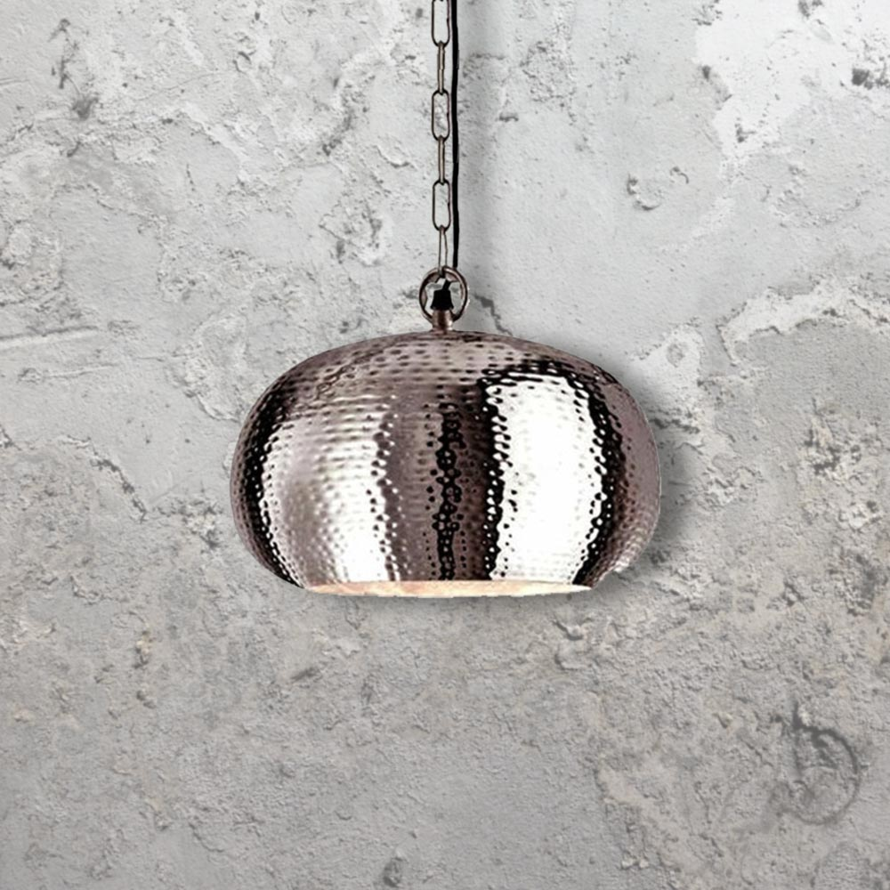 e2 contract lighting product hammered metal pendant light cl