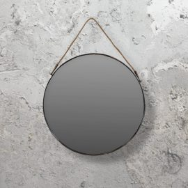 industrial hanging round mirror