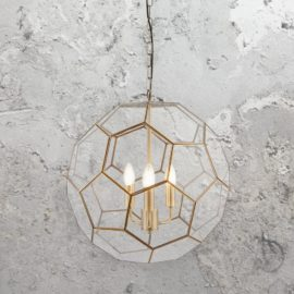 Hexagonal Glass Pendant Light