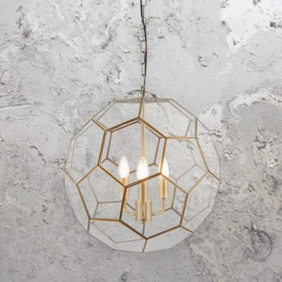 Hexagonal Glass Pendant Light