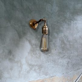 Hooked Brass Wall Light