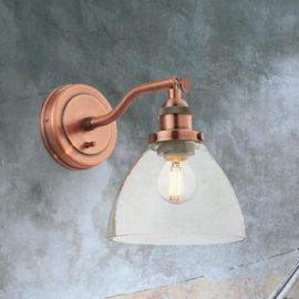 Industrial Adjustable Clear Glass Wall Light