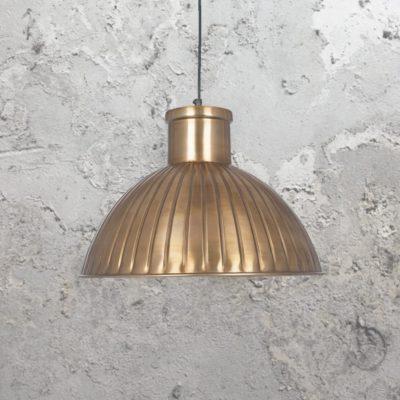 Industrial Antique Brass Pendant Light