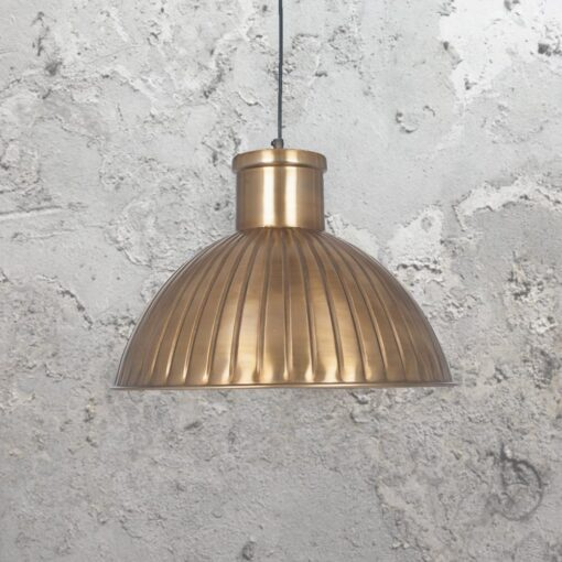 Industrial Antique Brass Pendant Light